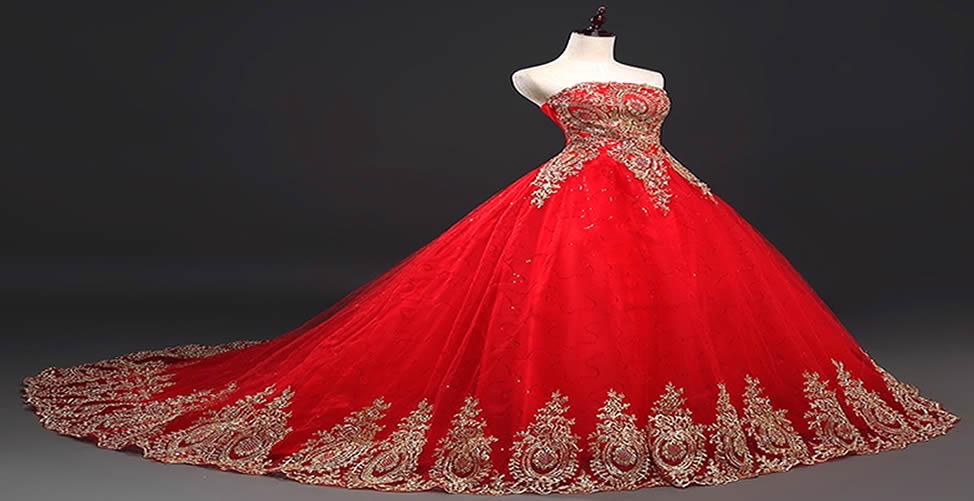 Sonhar com Vestido de Noiva vermelho