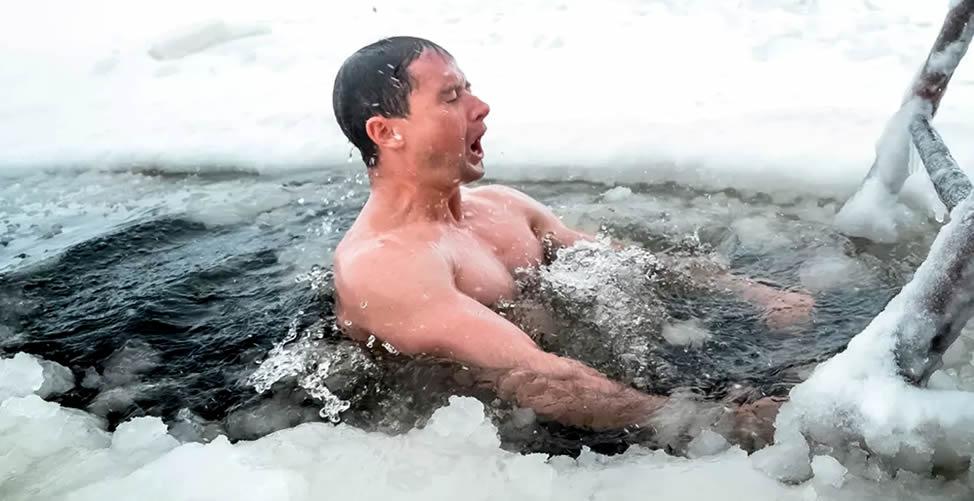 Sonhar Com gelo - Banho gelado