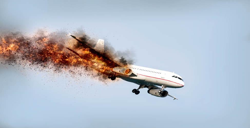 Sonhar Com Avião Caindo e Pegando Fogo